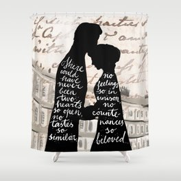 Persuasion Anne and Captain Wentworth Shower Curtain