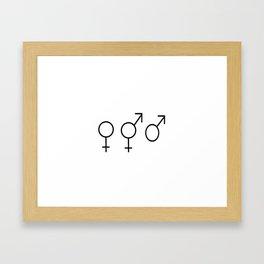 Symbol of Transgender 53 Framed Art Print