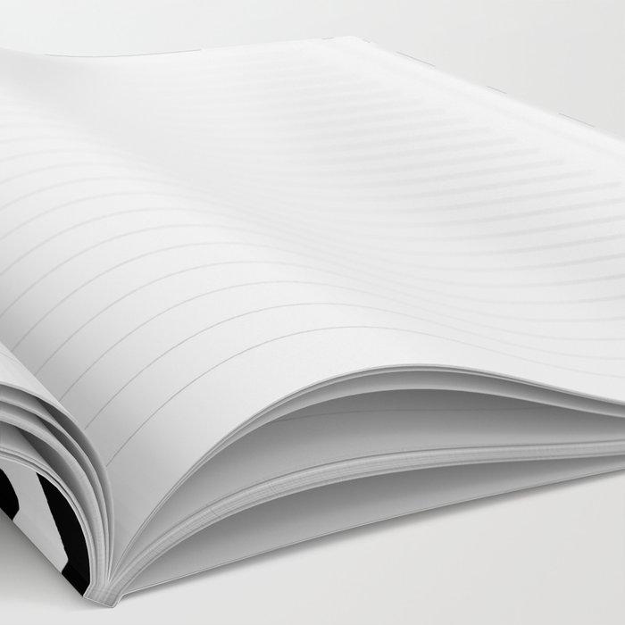 Sam - Black and White, Brushstroke,  Paint, Painterly, Design, Charlotte Winter Cell Phone Case Notebook