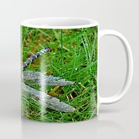 dragonfly Mugs featuring dragonfly by  Agostino Lo Coco