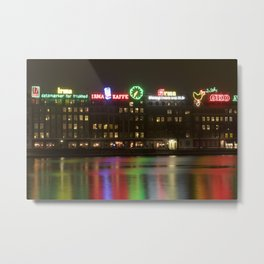 Copenhagen reflections at night Metal Print
