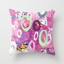 Abstract with Cercles Throw Pillow