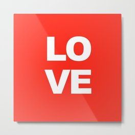 LOVE Red Print Decor Metal Print