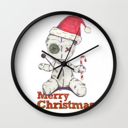 Merry Christmas Voodoo Doll Wall Clock