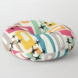 Retro Mid Century Modern Abstract Pattern 242 Floor Pillow