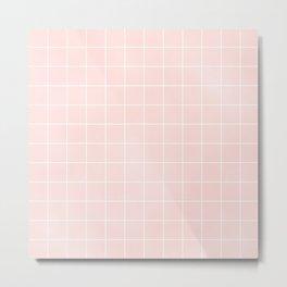 Pink Coral Grid Metal Print