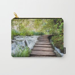 Wooden Path Across Stream in Plitvice Carry-All Pouch