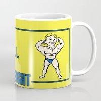fallout Mugs featuring Strength S.P.E.C.I.A.L. Fallout 4 by sgrunfo