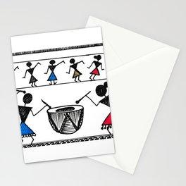 Warli Dance Stationery Cards