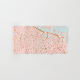 Amsterdam map Hand & Bath Towel