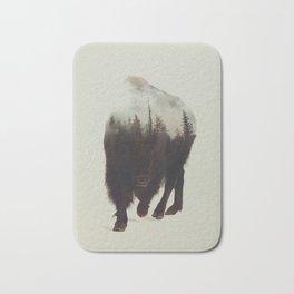 Night Bison Bath Mat
