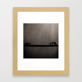 Ant Showdown Framed Art Print