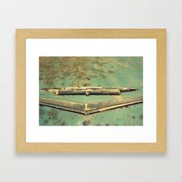 Rust Bucket Cadillac Framed Art Print