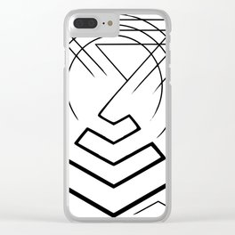 Pyramid lines in black Clear iPhone Case