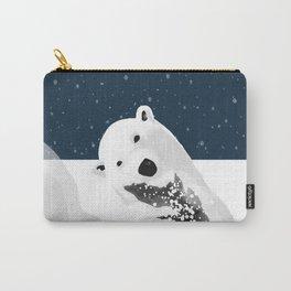 Unique Polar Bear Scene Carry-All Pouch