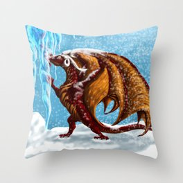 First Taste of Winter Throw Pillow
