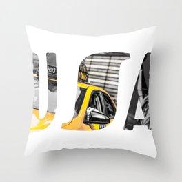 Yellow cabs Throw Pillow