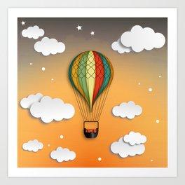 Balloon Aeronautics Dawn Art Print