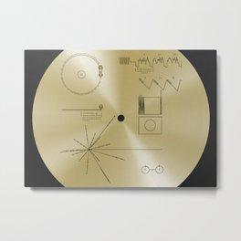 NASA space plaque: Voyager Golden Record (1977) Metal Print