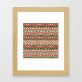 Abstract pattern: christmas Framed Art Print