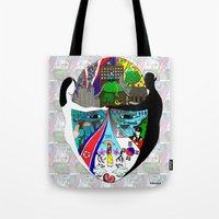 korea Tote Bags featuring A trip to Korea  by doctusdesign