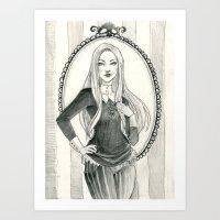 abigail larson Art Prints featuring Abigail Larson by Shana Marie