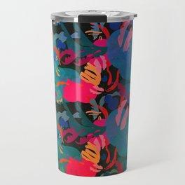 Papercut Floral Dark Travel Mug