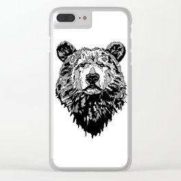 WHITE BEAR Clear iPhone Case