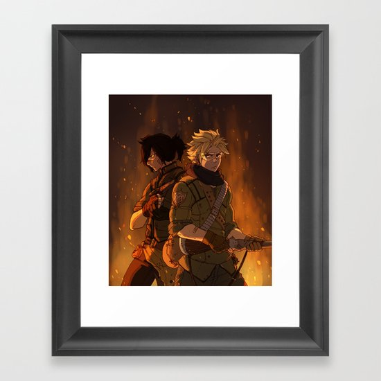 Brothers In Arms Framed Art Print
