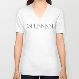 More than human Unisex V-Neck
