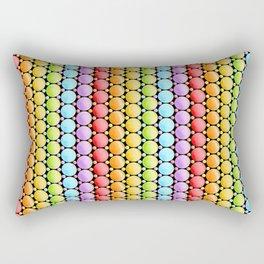 Rainbow Dotty Stripes Rectangular Pillow