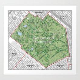 Greenwood Cemetery Art Print