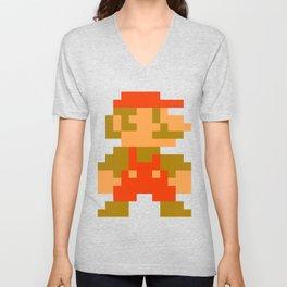 Pixel Mario Unisex V-Neck