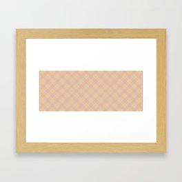 Beige and pink plaid Framed Art Print