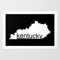 kentucky Art Prints featuring Kentucky by Isabel Moreno-Garcia