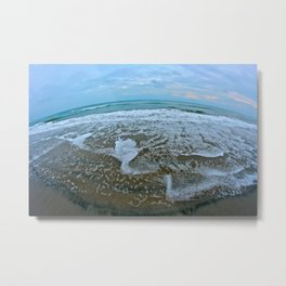 Fisheye Beach Metal Print