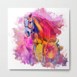 Painterly Animal - Horse 1 Metal Print