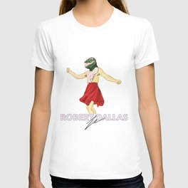 """DINO DANCE PARTY"" - BY ROBERT DALLAS T-shirt"