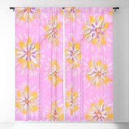 Tangerine Petal Rose Blackout Curtain