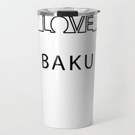 Baku heartbeat. I love my favorite city. Travel Mug
