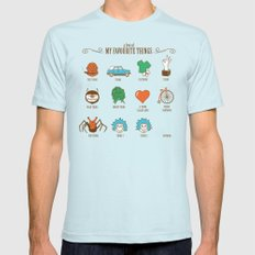 A Few Of My Favourite Things Mens Fitted Tee LARGE Light Blue