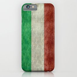 Flag of Italy, worn grungy style iPhone Case