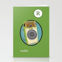 transistor Stationery Cards featuring Transistor Radio Flash Card by paper moon projects