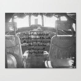 Flight Skyward Da Vinci Canvas Print