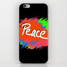 Peace (retro neon 80's style) iPhone & iPod Skin