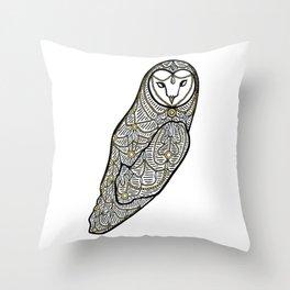 Jewelled Owl Throw Pillow