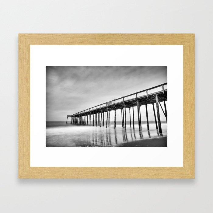 Ocean City Maryland, Fishing Pier Framed Art Print
