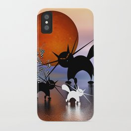 mooncats and the aliens iPhone Case
