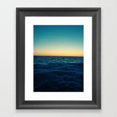 Ocean Skyline Framed Art Print