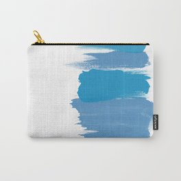 Bold brushstrokes with mosaic stripes Carry-All Pouch